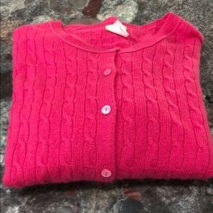 J Crew Fuscia Cashmere Sweater